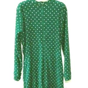 Womens Polka Dot Fleece One Piece Pajamas Romper